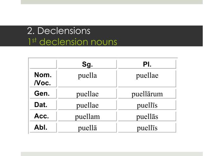 2. Declensions