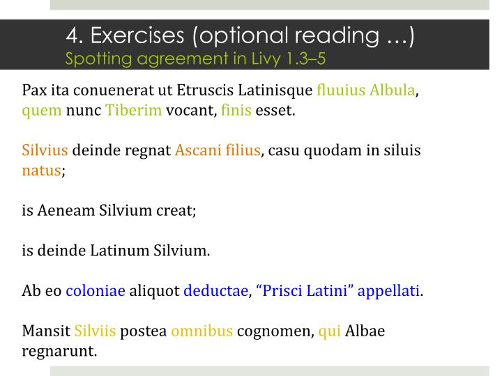 4. Exercises (