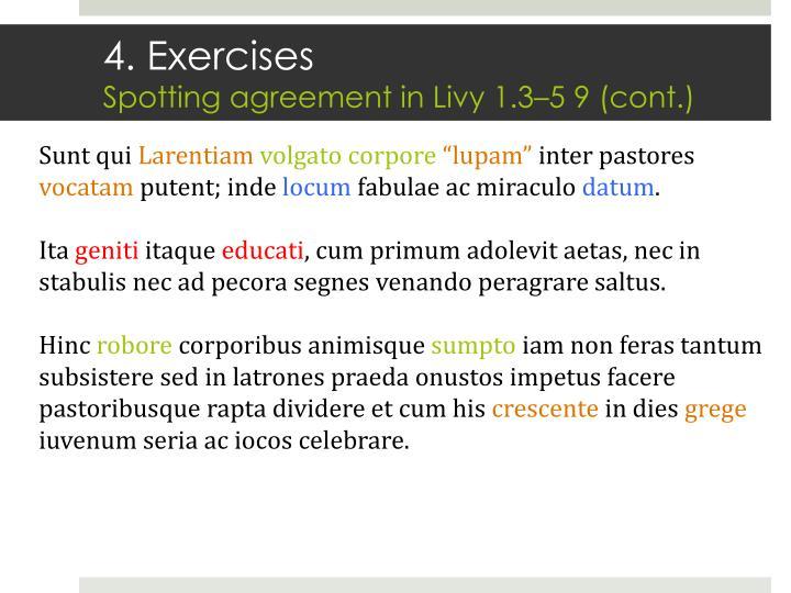 4. Exercises