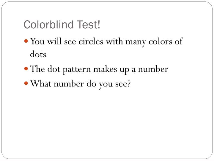 Colorblind Test!