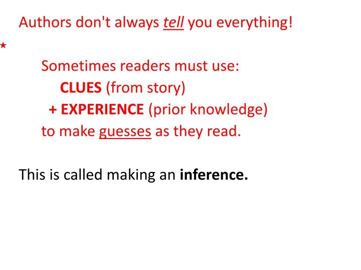 Authors don't always