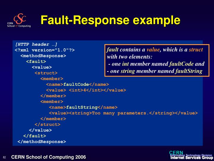 Fault-Response example