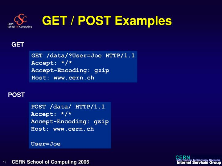 GET / POST Examples