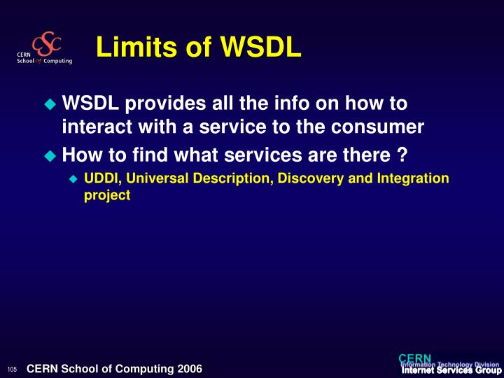 Limits of WSDL