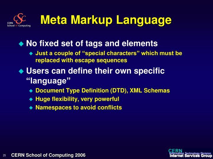 Meta Markup Language