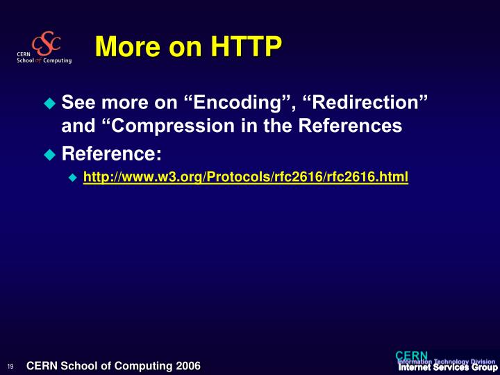 More on HTTP