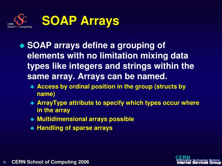 SOAP Arrays