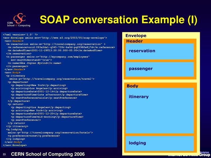 SOAP conversation Example (I)