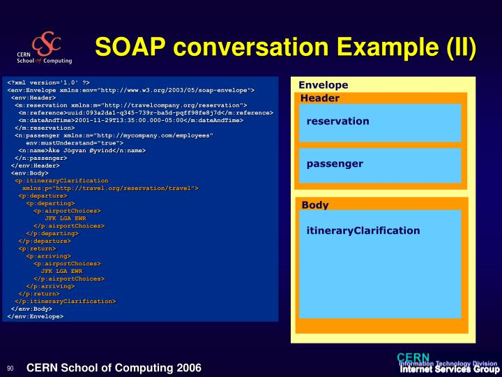 SOAP conversation Example (II)