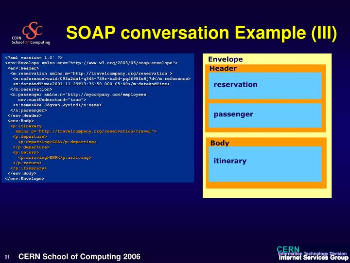 SOAP conversation Example (III)