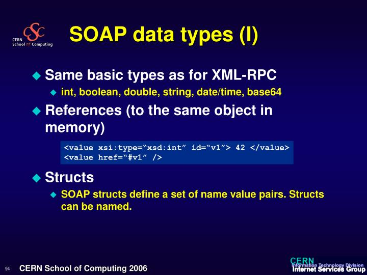 SOAP data types (I)
