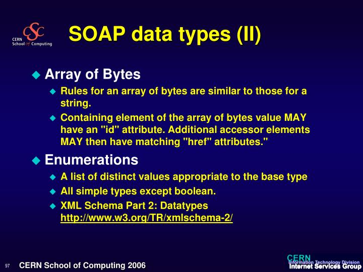 SOAP data types (II)