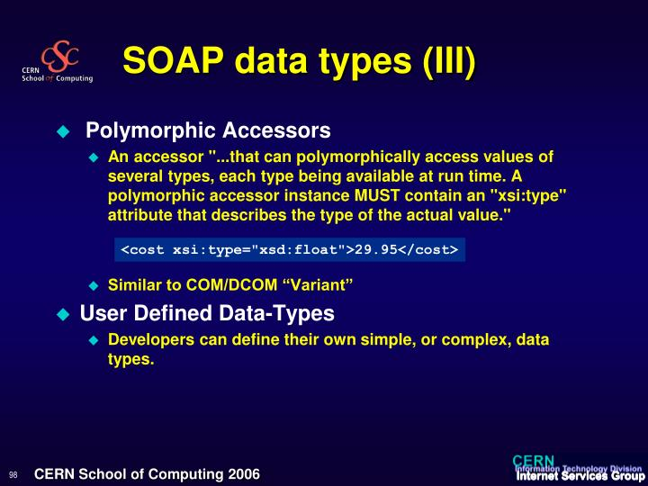 SOAP data types (III)