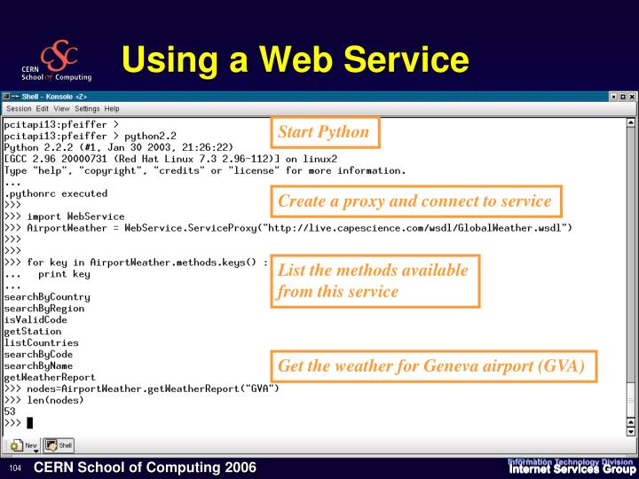 Using a Web Service