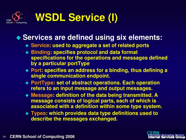 WSDL Service (I)