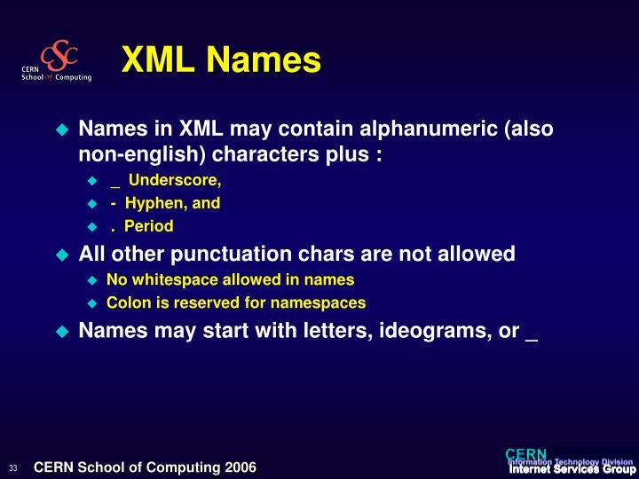 XML Names