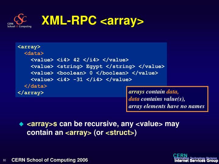 XML-RPC <array>