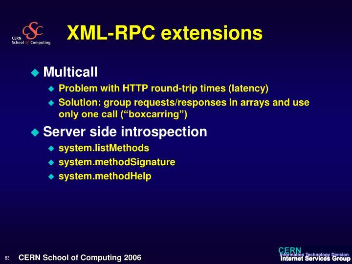 XML-RPC extensions