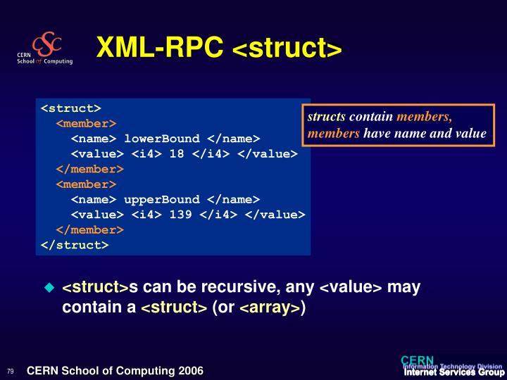 XML-RPC <struct>