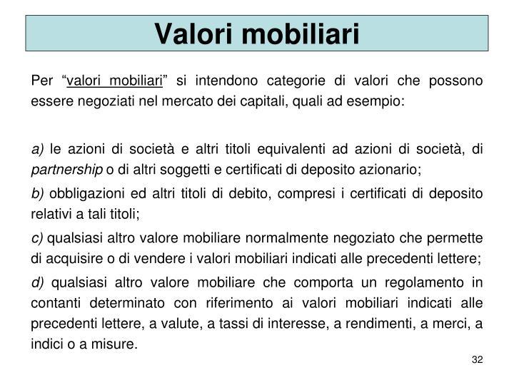 Valori mobiliari