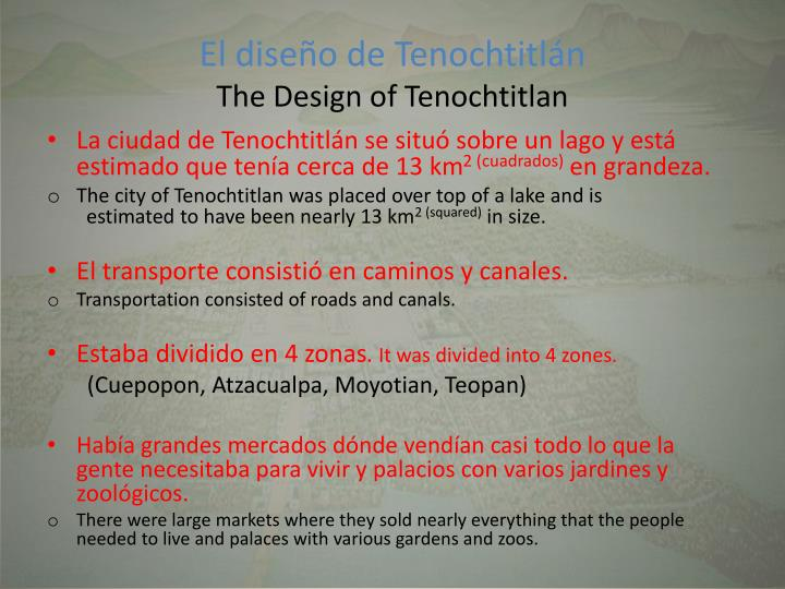 El dise o de tenochtitl n the design of tenochtitlan