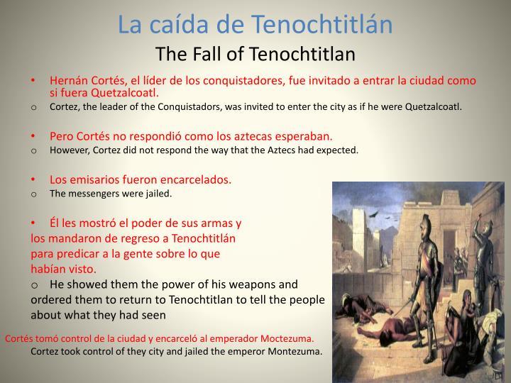La caída de Tenochtitlán