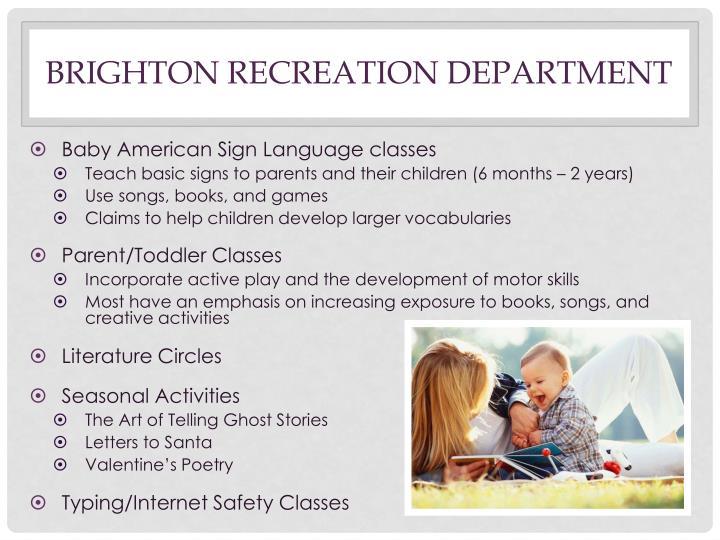 Brighton Recreation Department