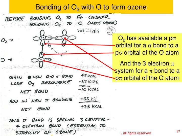 Bonding of O