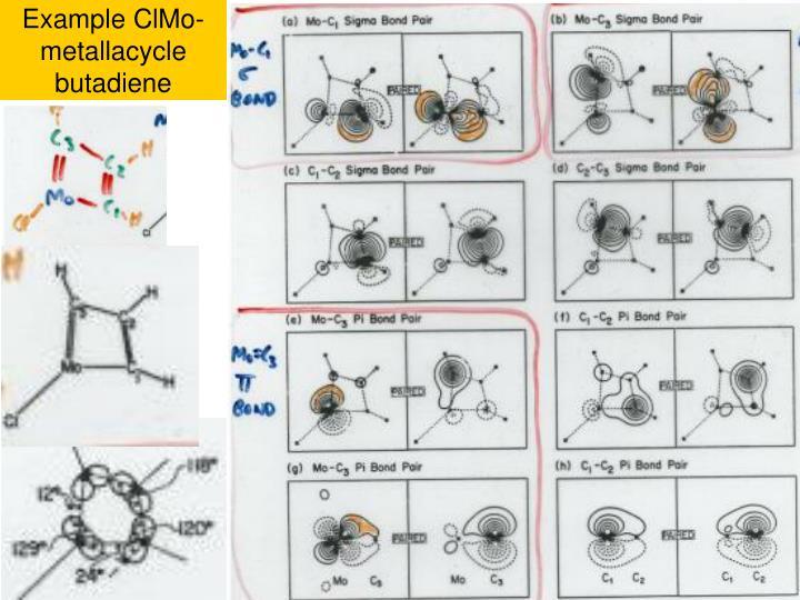 Example ClMo-metallacycle butadiene