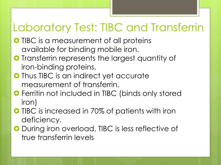 Laboratory Test: TIBC and Transferrin