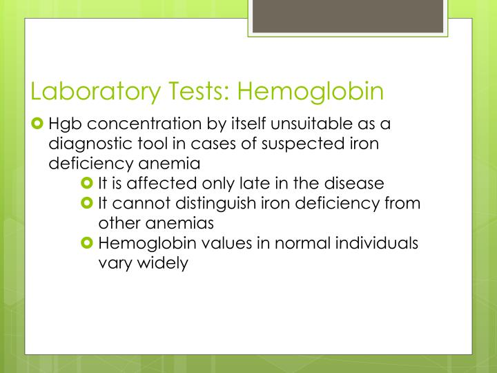 Laboratory Tests: Hemoglobin