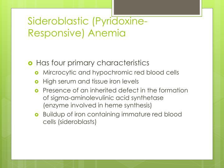 Sideroblastic