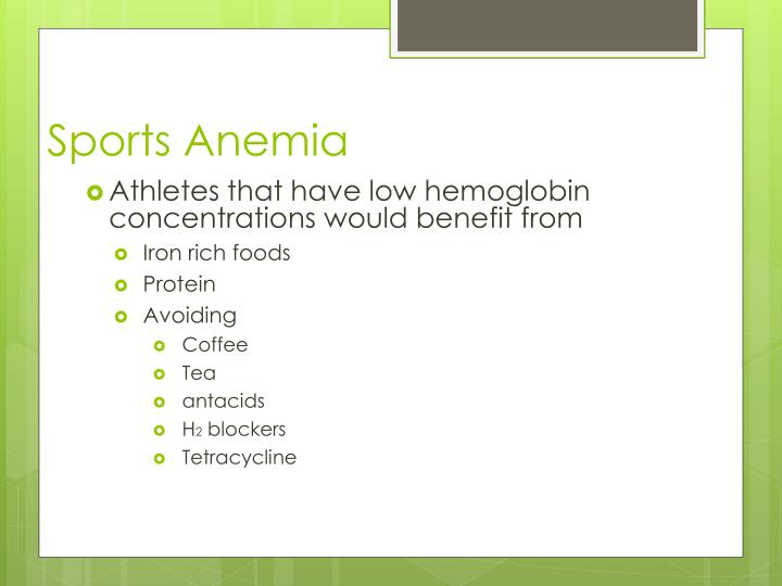 Sports Anemia