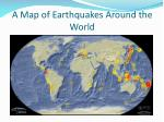 a map of earthquakes around the world