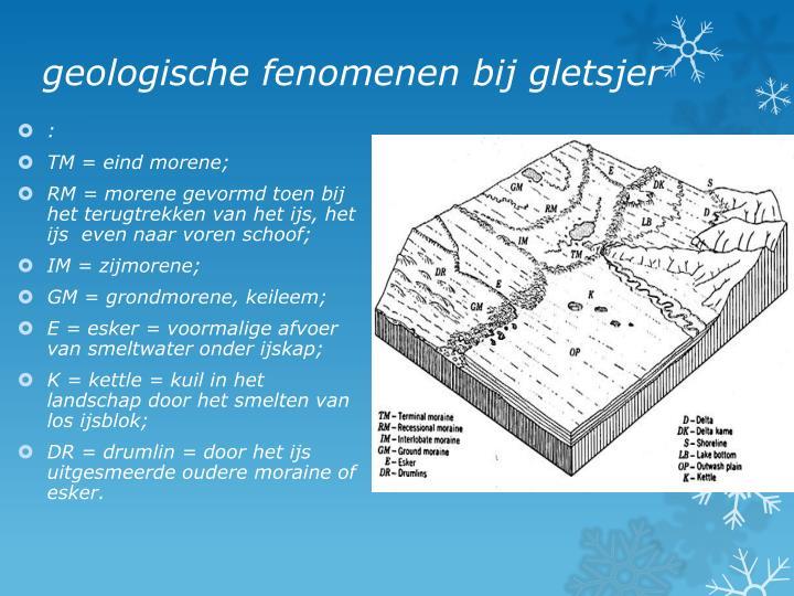 geologische fenomenen bij