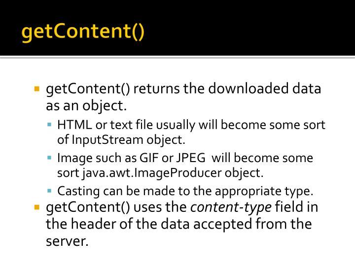 getContent()