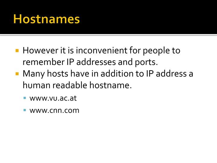 Hostnames