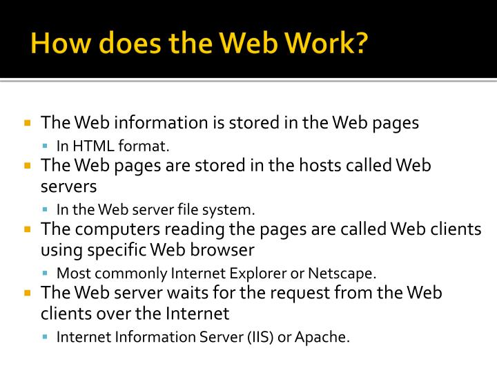 How does the Web