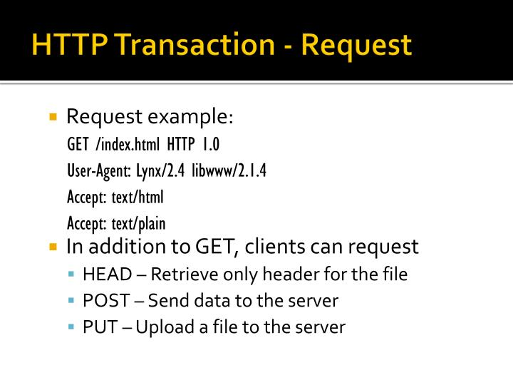 HTTP Transaction - Request
