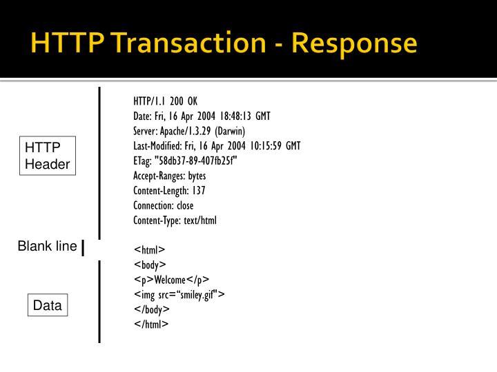 HTTP Transaction - Response