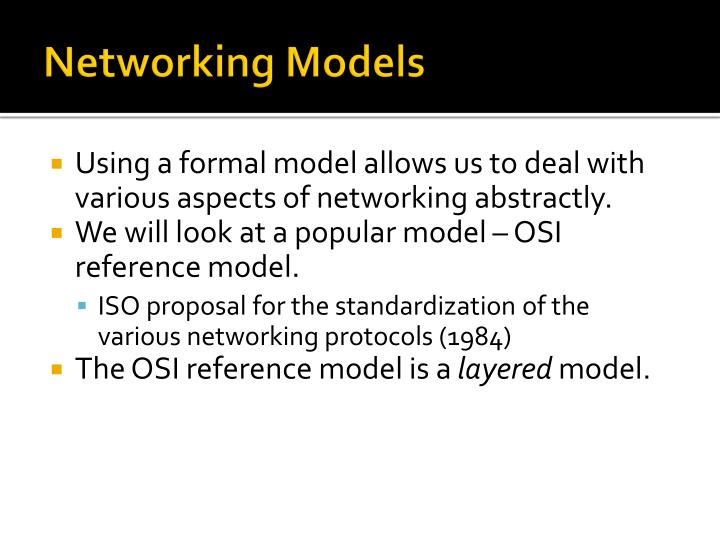 Networking Models