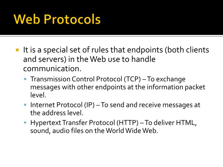 Web Protocols