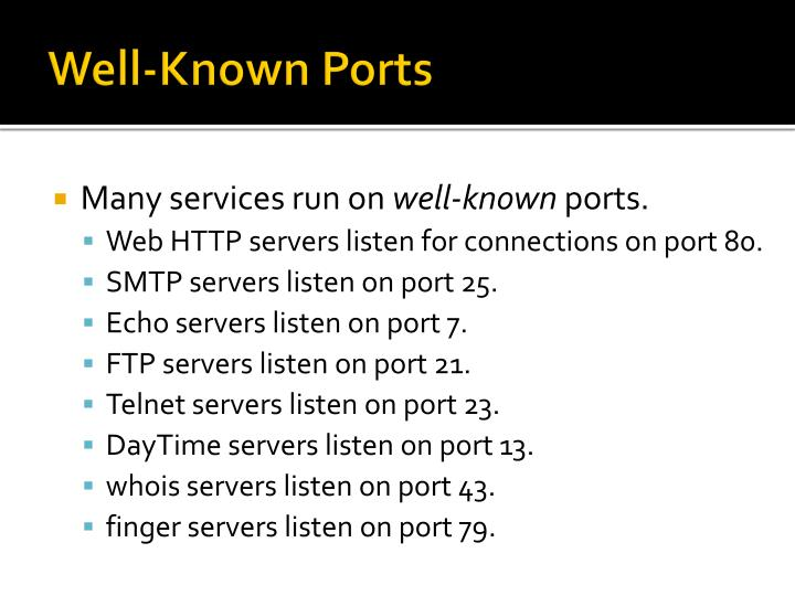 Well-Known Ports