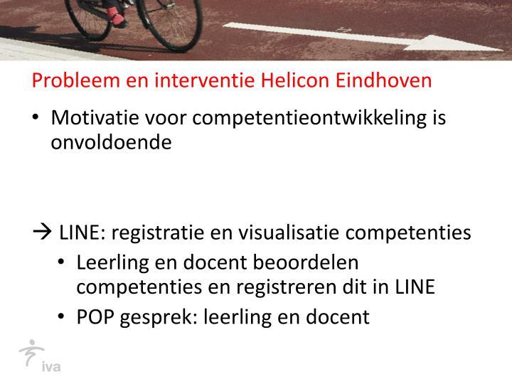 Probleem en interventie Helicon Eindhoven