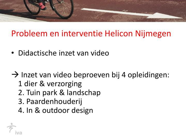 Probleem en interventie Helicon Nijmegen