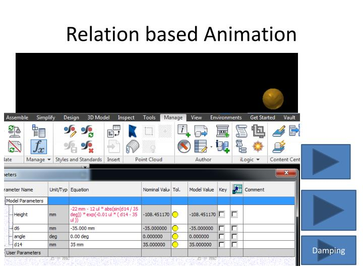 Relation based Animation