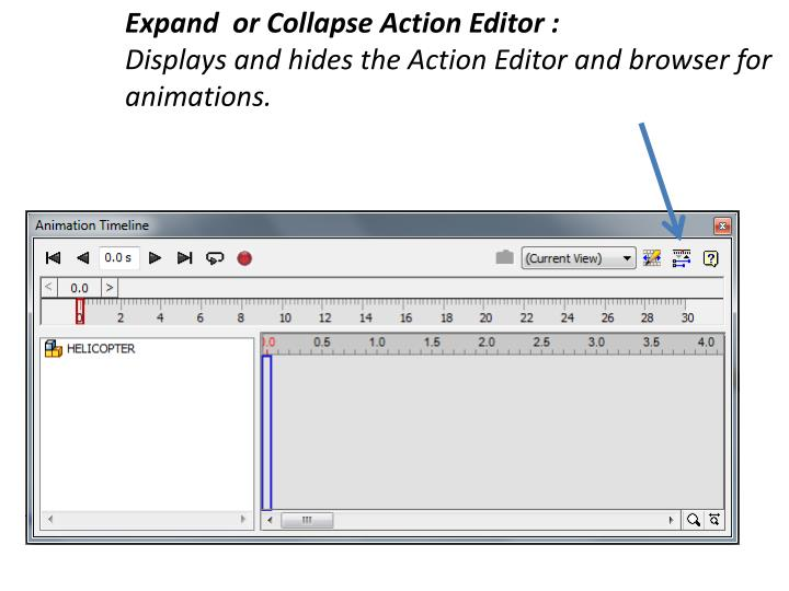 Expand  or Collapse Action Editor :