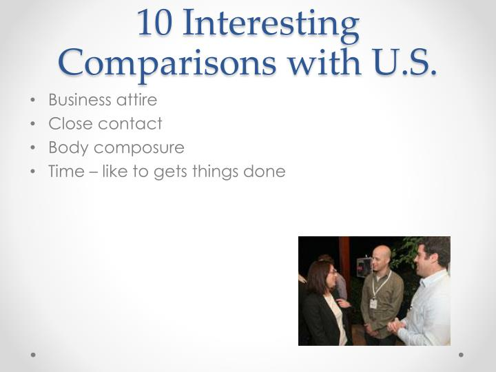 10 Interesting Comparisons with U.S.