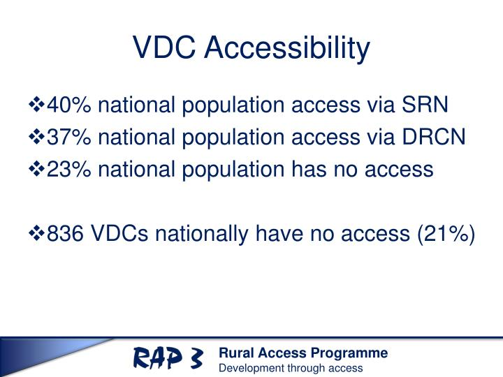 VDC Accessibility