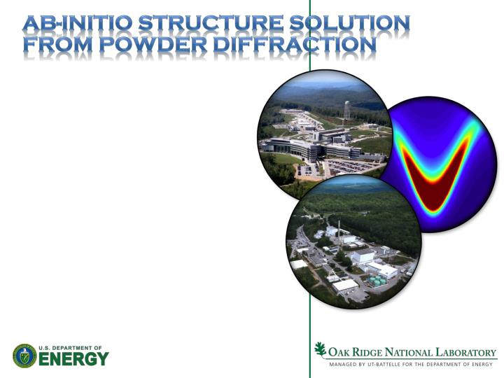 Ab-initio Structure Solution from Powder Diffraction